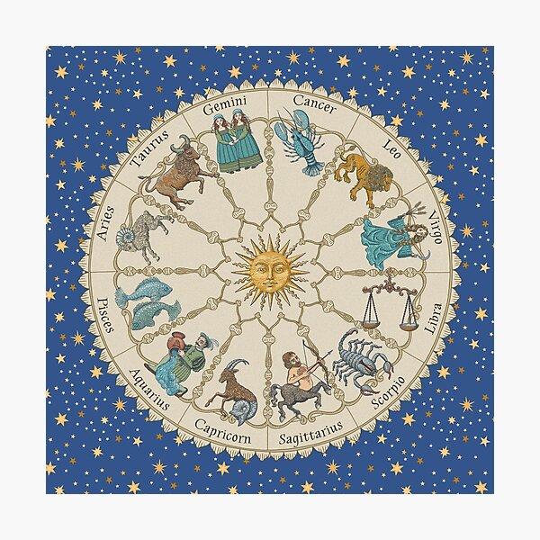 Vintage Astrology Zodiac Photographic Print