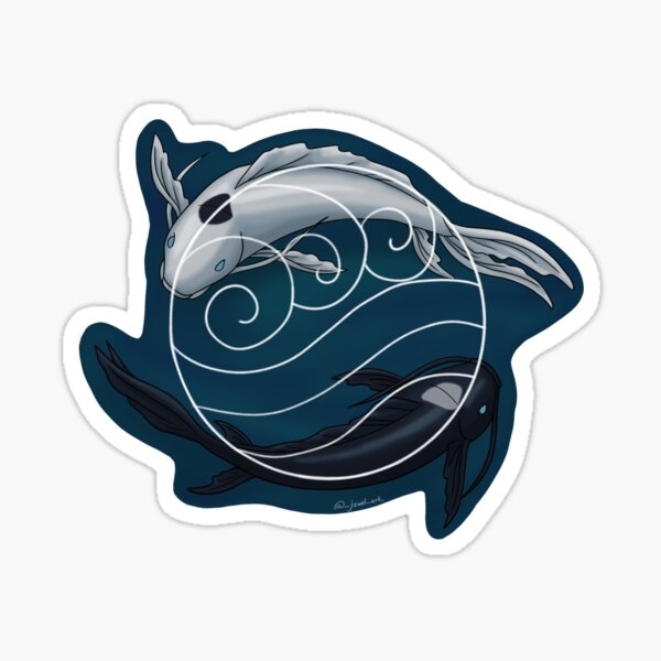 Avatar Water Symbol White Sticker
