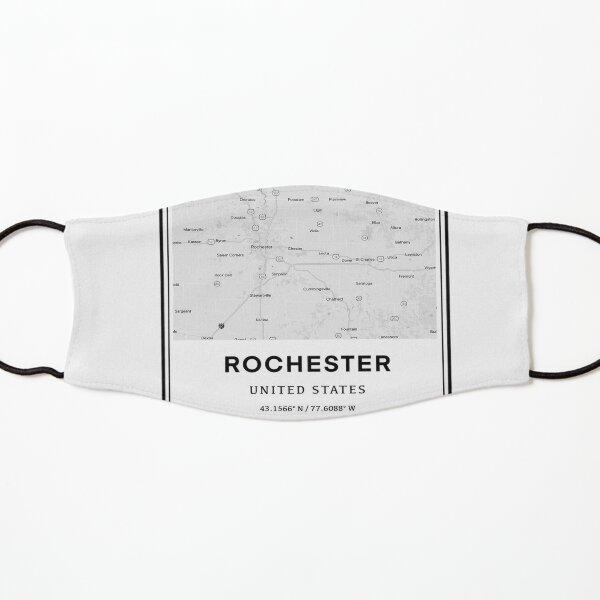 Rochester Minnesota Coordinates and Map Kids Mask