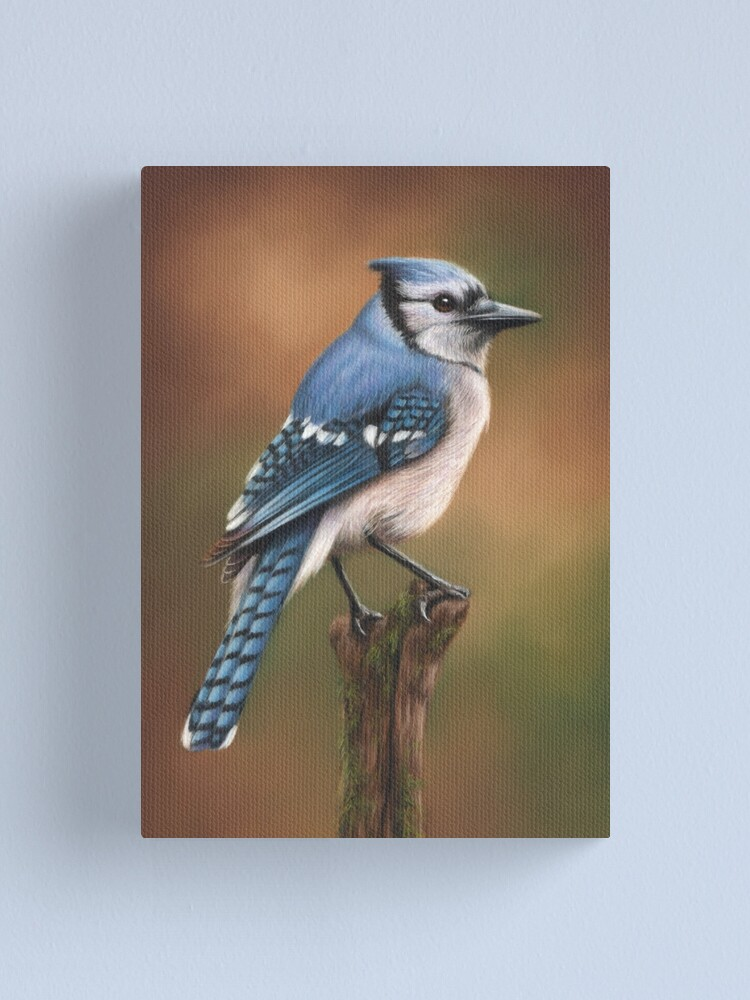 Alternate view of Blue Jay Bird Artwork Canvas Print