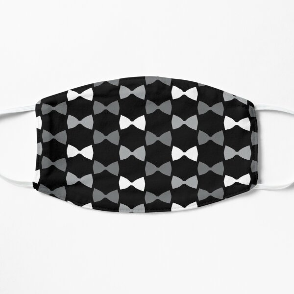 Black and White Bow Ties Mask