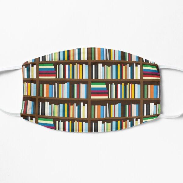 Bookshelves, Books on a shelf Flat Mask