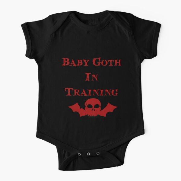 Baby Goth In Training - Kids Short Sleeve Baby One-Piece
