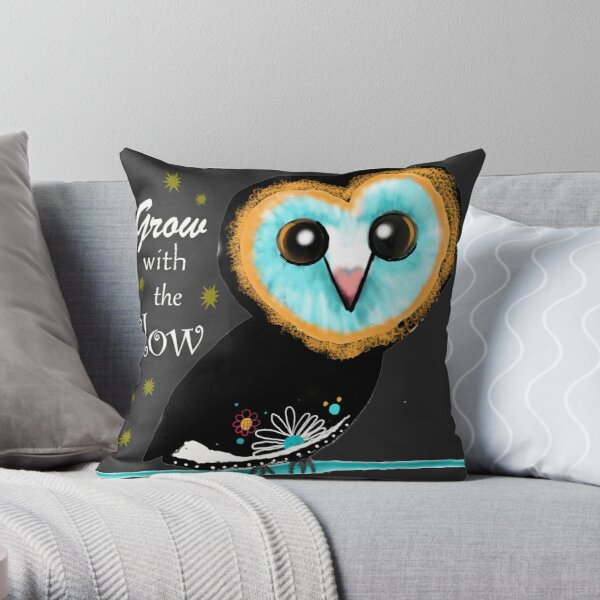 Grow with the Flow  Throw Pillow