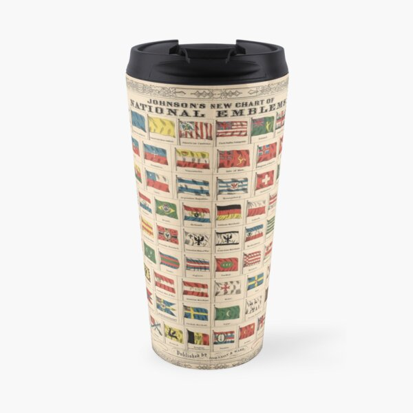 Vintage Flags of the World Chart (1863) Travel Mug