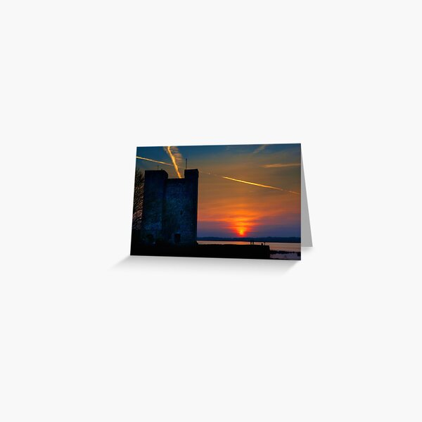 Oranmore Castle Sunset, Galway Greeting Card