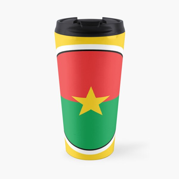 Burkina Faso Flag Gifts, Stickers & Products (GF) Travel Mug