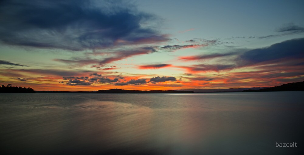 At Last!  A Sunset with Colour by bazcelt