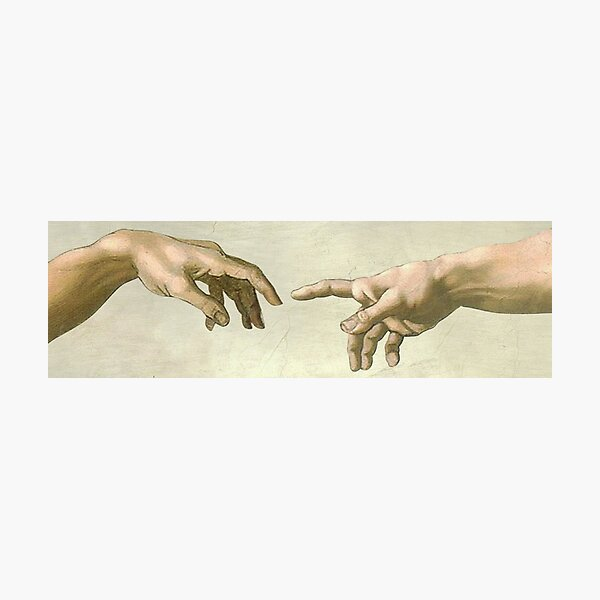 The Creation of Adam: Eyes Only Photographic Print