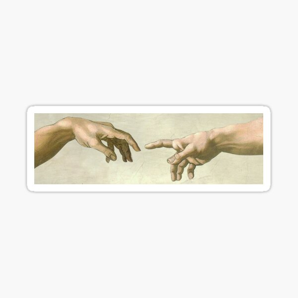The Creation of Adam: Eyes Only Sticker