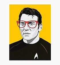 Star Trek James T. Kirk (William Shatner) Pop Art  illustration Photographic Print