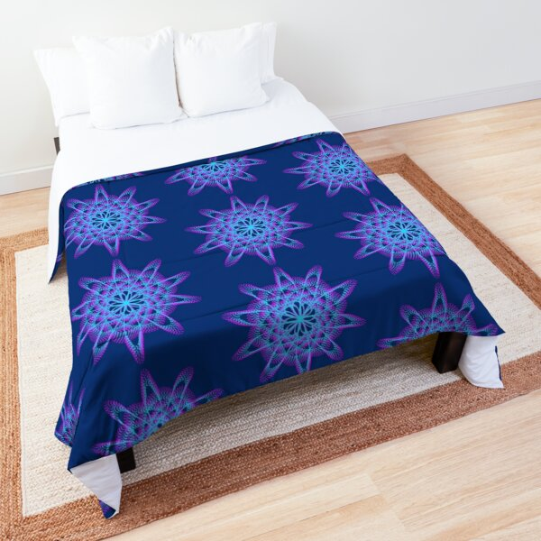 Spirograph with pink and blue Comforter