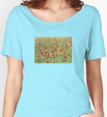 A Pasture Of Red Poppies and Remembrance Women's Relaxed Fit T-Shirt