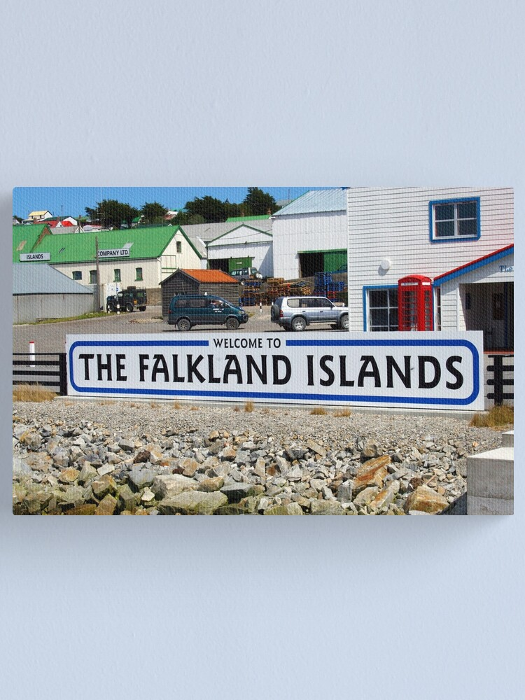 Alternate view of Welcome to the Falkland Islands Canvas Print