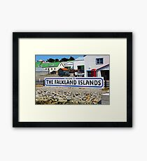 Welcome to the Falkland Islands Framed Print