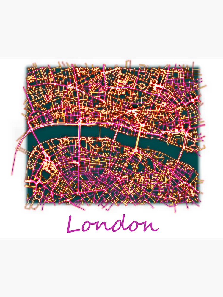 Neon Roads of London by jvdkwast