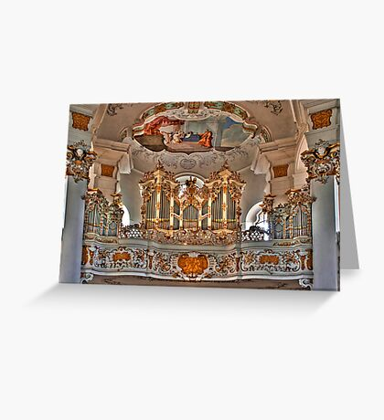 Pilgrimage Church of Wies - The Balcony Greeting Card