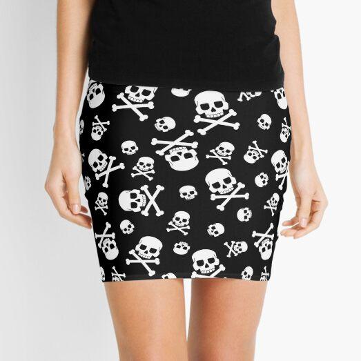 Skull and crossbones pattern for holiday halloween Mini Skirt
