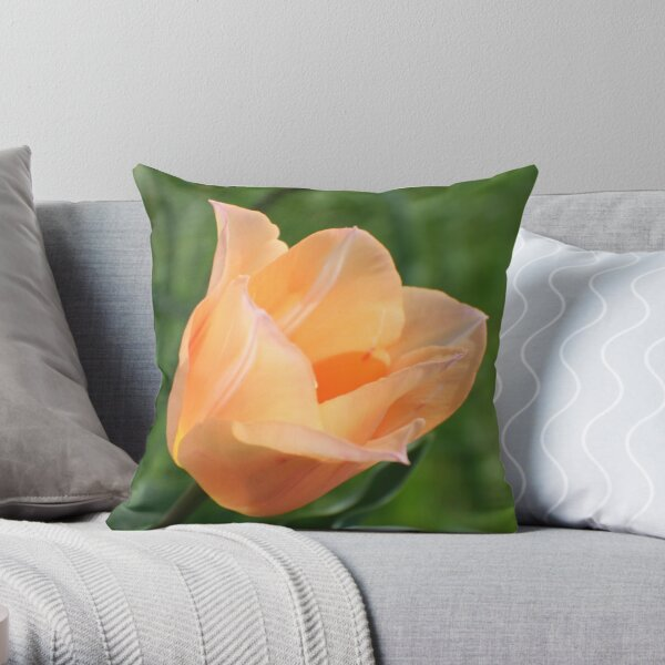 Stretching Into Spring Throw Pillow