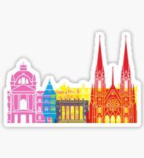Strasbourg skyline pop Sticker