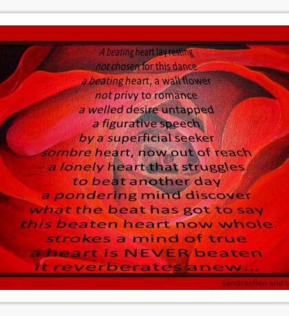 A Beating Heart Lay Resting - Greeting Card Sticker
