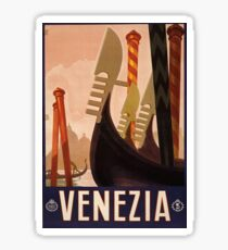 Vintage Travel Poster: Venice Sticker