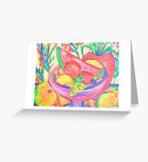 Just Plain Fruity Greeting Card
