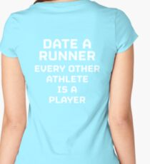 Date a Runner Women's Fitted Scoop T-Shirt
