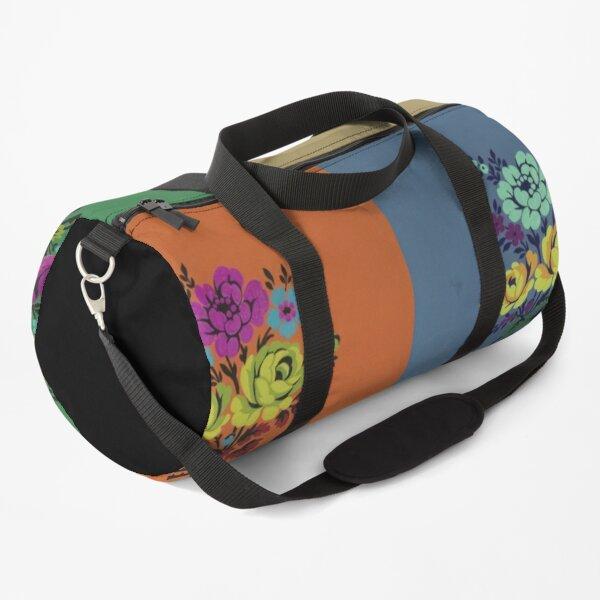 Flowers on Repeat  Duffle Bag