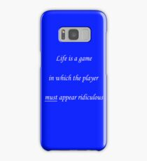 Life is a game... Samsung Galaxy Case/Skin