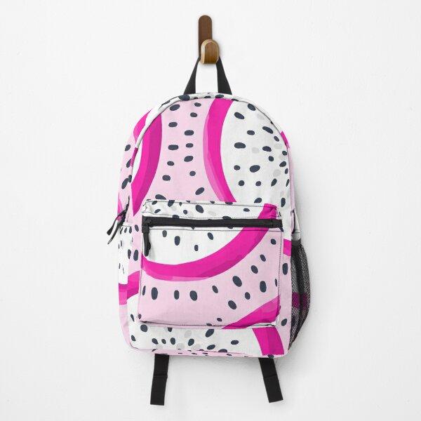 Vector dragon fruit seamless pattern pitaya pitahaya Backpack
