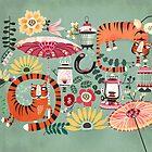 Tiger garden by Asa Gilland