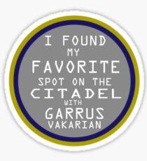 Favorite Spot on the Citadel Sticker