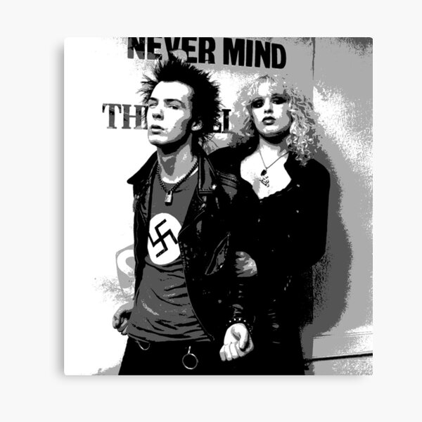Canvas Sid Vicious and Johnny Rotten Performing on Stage Art print POSTER