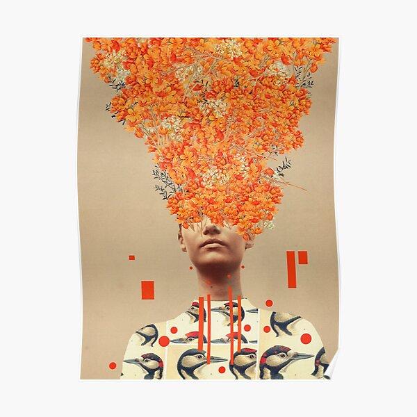 Bird Flight in Autumn Poster