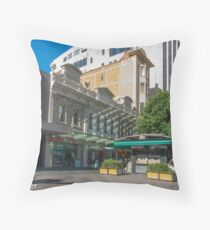 Rundle Mall - Old and New buildings  Throw Pillow