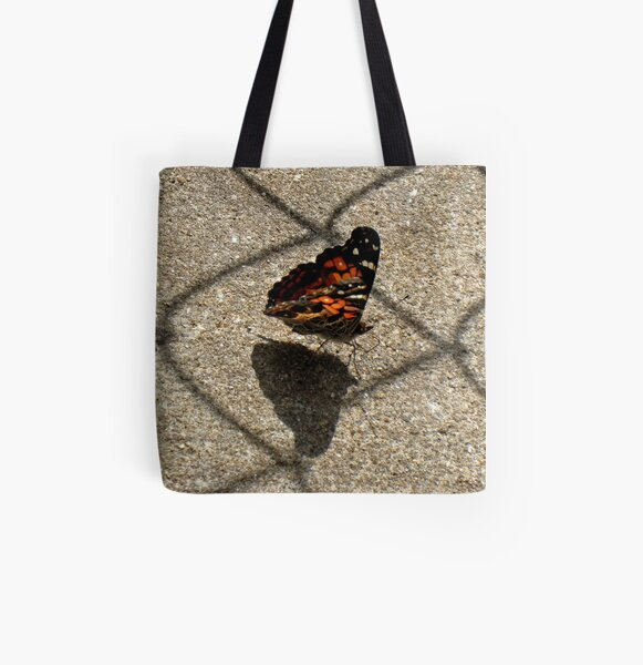American Beauty Butterfly All Over Print Tote Bag