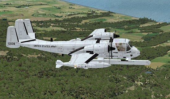 Grumman OV-1 Mohawk by Walter Colvin