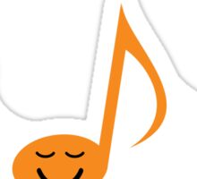 Happy, funny musical notes sticker Sticker