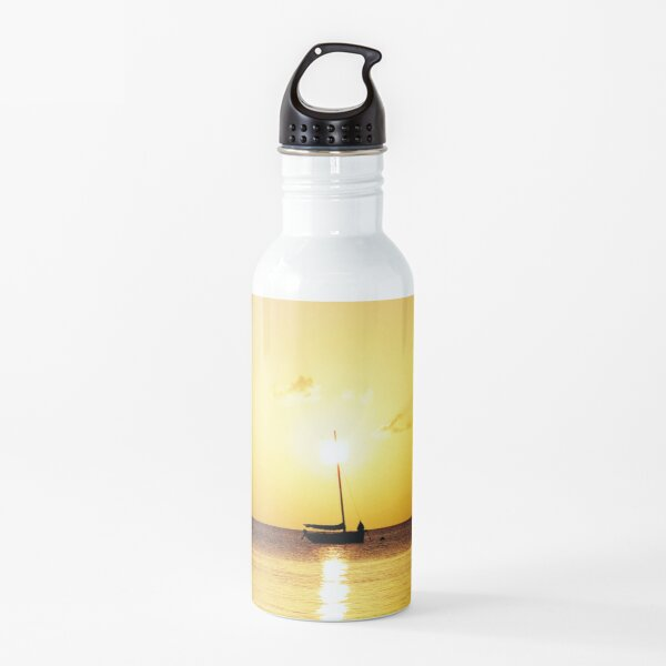 Watercolor People in Nature, NSS, Sailboat 06, St John, USVI Water Bottle