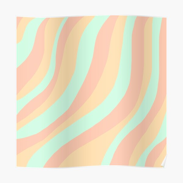 Aesthetic Yellow Orange Red Waves With Stars Wallpaper Poster By Pastel Paletted Redbubble