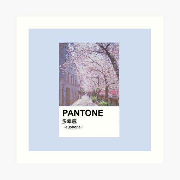 PANTONE aesthetic Japanese cherry blossoms Art Print