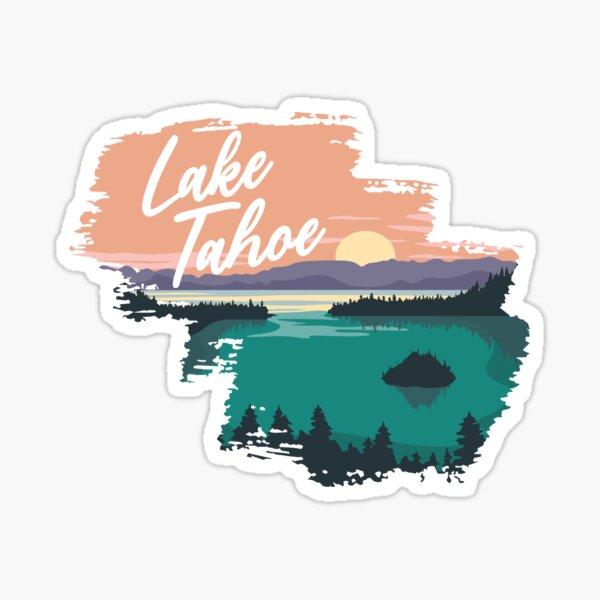 Lake Tahoe Sunset Sticker