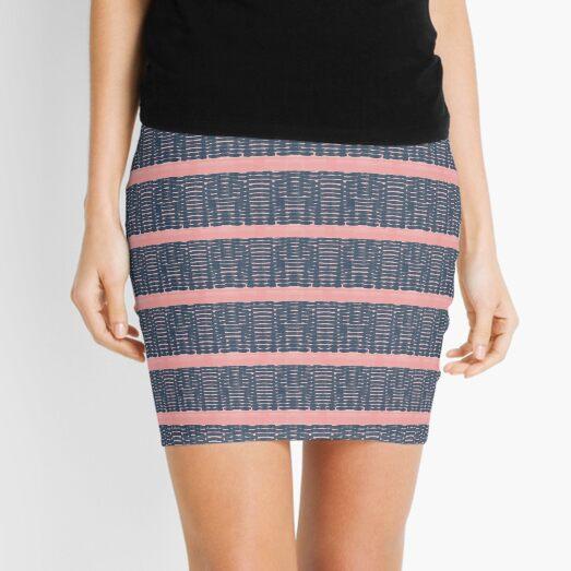 Grey pattern stripes Mini Skirt