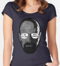 Walter White knocks  Women's Fitted Scoop T-Shirt