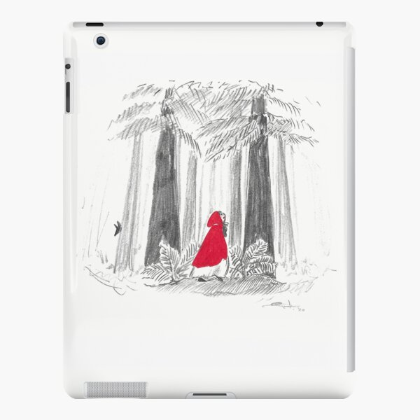 Red riding hoods in the woods - red and grey - with a wolf ! iPad Snap Case