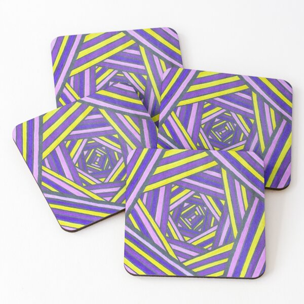 Lines of Color Coasters (Set of 4)