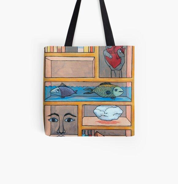 Bookcase All Over Print Tote Bag