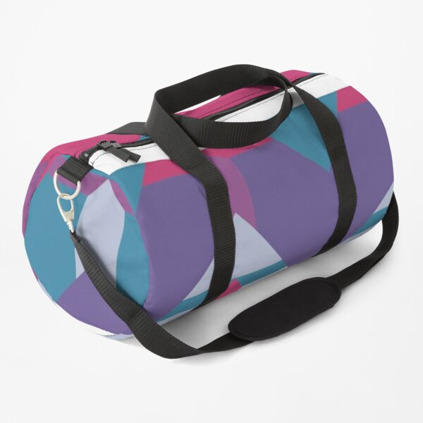 Cool Waves #redbubble #violet #pattern Duffle Bag