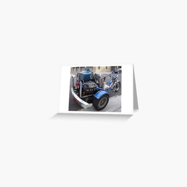 Motor Trike Greeting Card